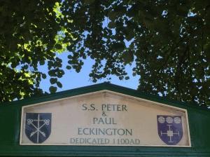 S. S. Peter & Paul noticeboard